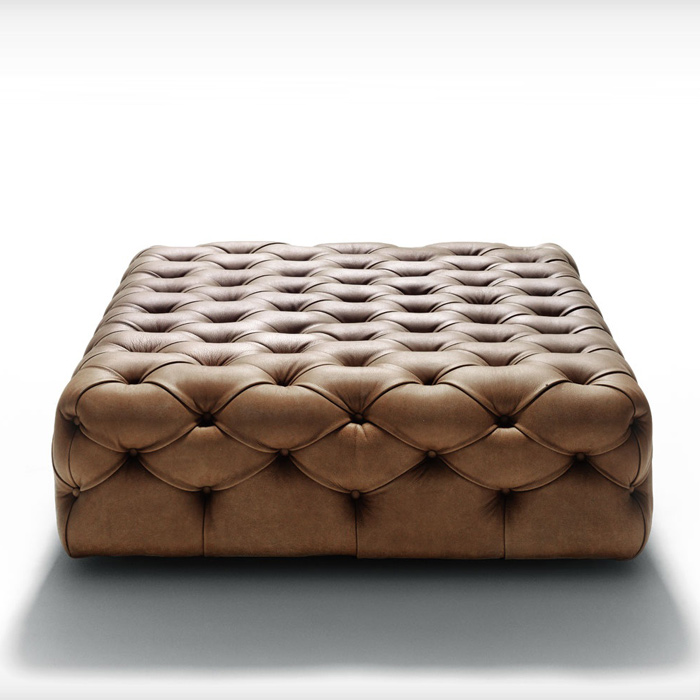 Capittone pouff by Depadova, available in Boston at Showroom