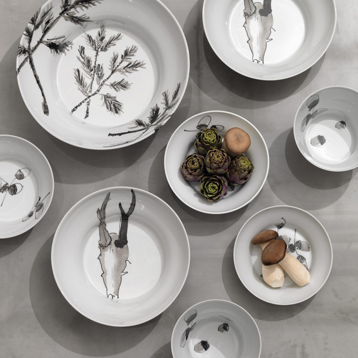 Hering Berlin Piqueur tableware, available in Boston at Showroom