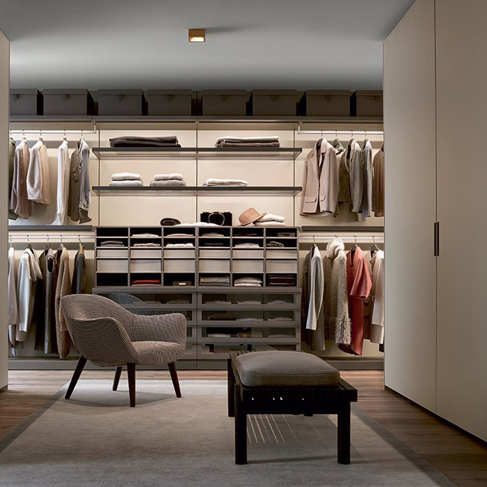 Ubik closet by Poliform, available in Boston exclusively at Showroom