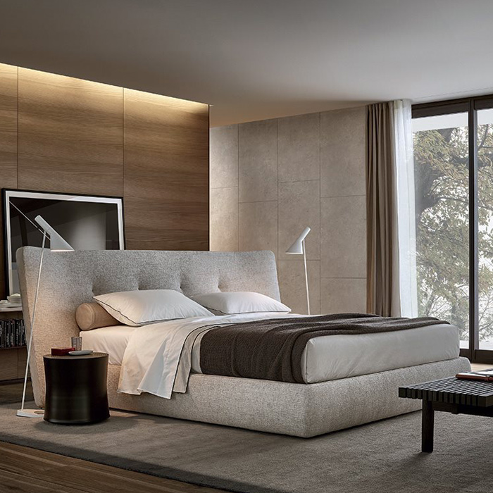 Rever bed by Poliform, available in Boston at Showroom