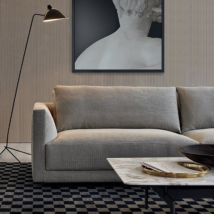 Poliform Bristol sofa, available in Boston at Showroom