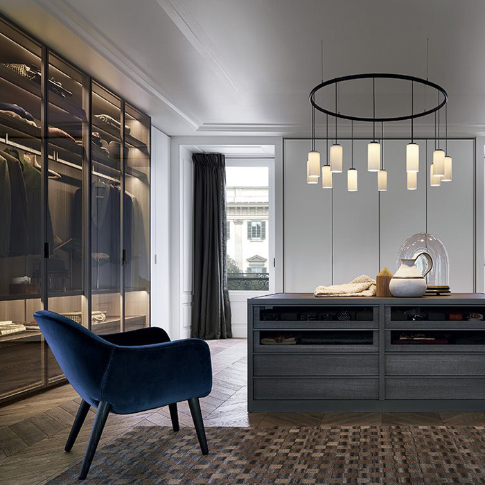 Tweed Island closet by Poliform  available in Boston exclusively at Showroom. showroom  Contemporary high end furniture and interior design   Boston