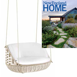 Dedon Rayn swing featured in New England Home