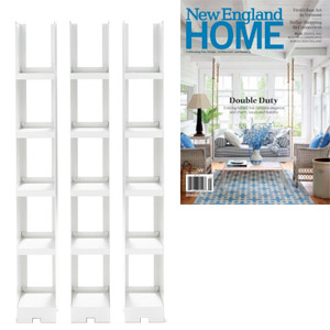 DePadova Kant Bookcase featured in New England Home magazine