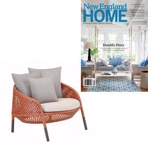Depadova Ahnda Lounge featured in New England Home magazine